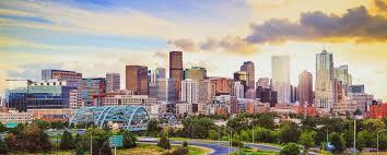 image depicts a city in Colorado