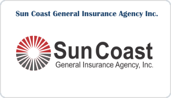 image depicts white backround with the words Suncoast General Insurance Agency