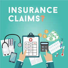 image shows pics like medical, calculator and money depicting an insurance claim