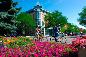 image shows bikers in Ft Collins