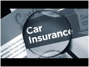 image shows magnify glass over the words Car Insurance