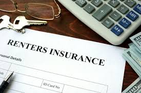image shows contract saying renters insurance