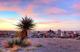 image shows scenery in El Paso, TX