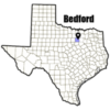 Bedford TX city map