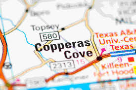 Image shows map of Copperas Cove Texas
