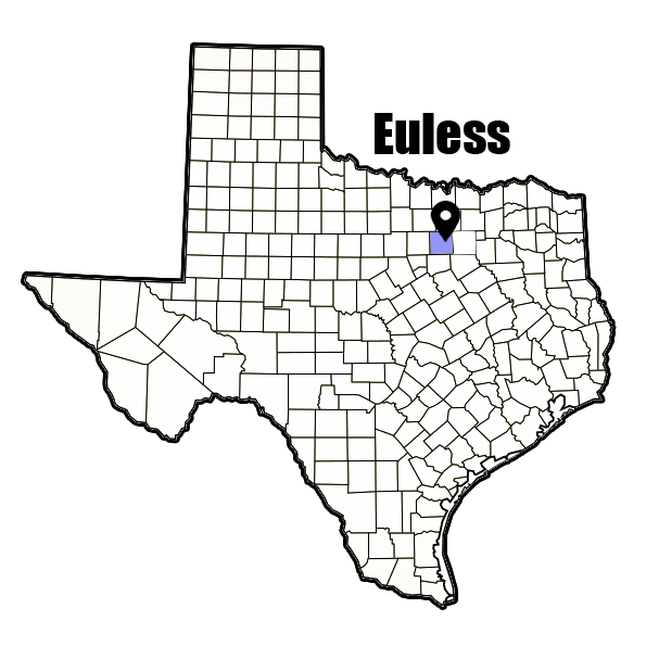 Euless, TX city map, cheapest auto insurance
