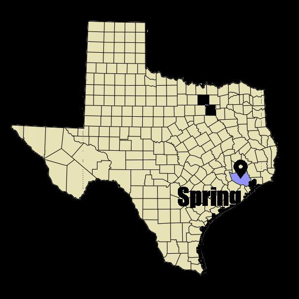 Spring, TX city map