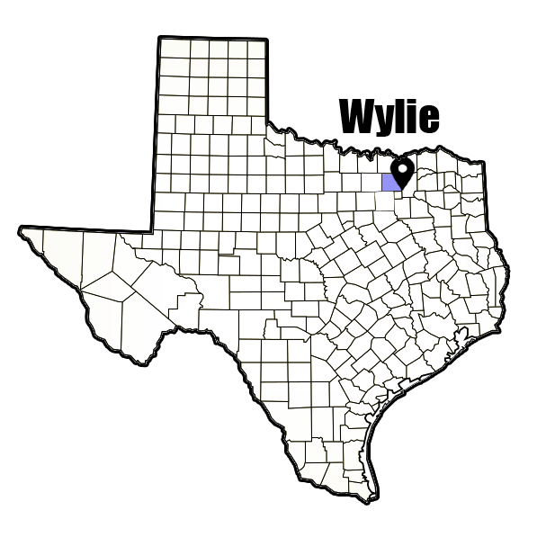 Wylie, TX city map cheapest auto insurance